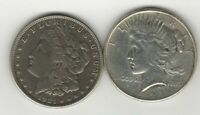 Two Headed 1921 Morgan and Peace Dollar Magic Trick Coin - 1 COIN with 2 Heads!