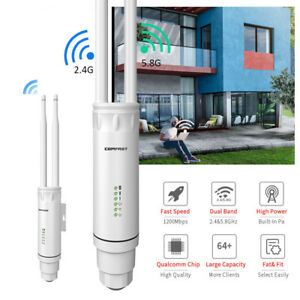 AC1200Mbps WIFI Outdoor Repeater Wireless Booster 2.4/5GHz Router POE WAN&LAN