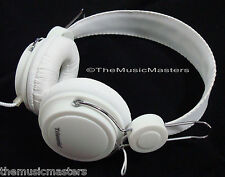 DJ Style Home Audio Studio Monitor HiFi Stereo Headphones HD Sound Quality White