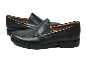 Clarks Men's Un Aldric Walk 26132595 in Black Leather Sz 8-13 NEW