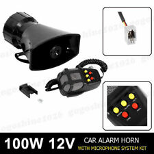 Air Horn Siren Megaphone Loud & MIC Speaker 5 Sounds Auto Car Vehicle Truck 12V