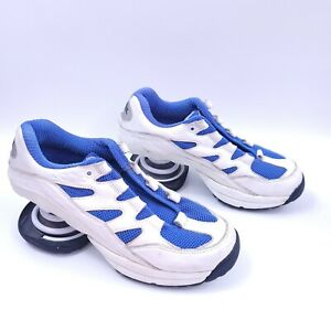 Z-Coil White Leather Pain Relief Spring Walking Shoes Womens 9 No Laces/ Insoles