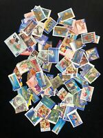 75x International Australian Post Stamps Used On & Off Paper Mixed Values