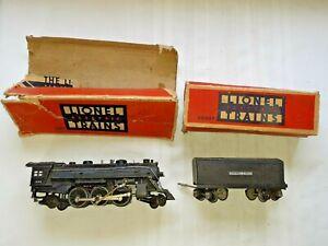 LIONEL Locomotive #1666 w/ Tender 2689T  w/ Part. Boxes