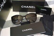 CHANEL CH 5215 5013c Black Leather Silver Chain Sunglasses - Poppy Delevingne