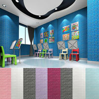 PE Foam 3D Brick Wall Sticker Self-Adhesive Foam Wallpaper Panels Room Decal