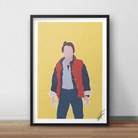 Marty Mcfly INSPIRED WALL ART Print / Poster Minimal A3 bttf Back to the Future