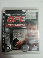 UFC Undisputed 2009 Sony PlayStation 3 PS3 Video Game Complete Tested CIB
