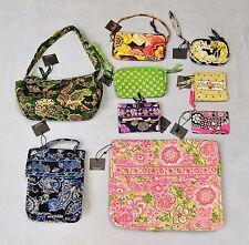 C0 NEW Auth VERA BRADLEY 9 Pc Lot Hobo Wallet Wristlet Laptop Bag