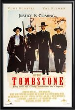 TOMBSTONE MOVIE POSTER FRAMED in Premium Black Wood Frame, Size 24x36
