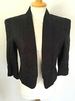 Great Plain Ladies Blue Linen Lined 3/4 Sleeve Jacket Size M. New With Tags.