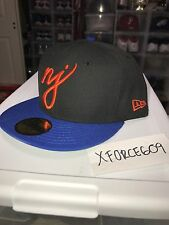 New Era The Garden State Fitted Hat Sz 7 3/4 Black Blue Knicks Colorway NEW