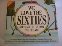VARIOUS : WE LOVE THE SIXTIES 60 CLASSIC HITS FROM CD FREE Shipping, Save £s