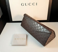 Beautiful GUCCI Sunglasses Hard Leather GG Folding Case Box & Cleaning cloth
