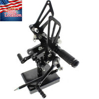 US For Suzuki GSXR600 750 1000 Motorcycle Rearset Footpeg Rear Set Brake Shift