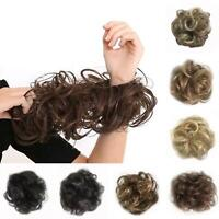 AM_ HAIR MESSY BUN FAKE STYLING COVER SCRUNCHIES ELASTIC BOBBLES WAVY WIG SHORT