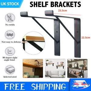 Set of 2 Rustic Scaffold Board Shelf Industrial Steel Metal Brackets Heavy Duty