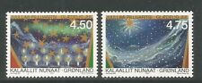 Greenland 2000 Christmas/Art--Attractive Holiday Topical (378-79) MNH