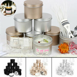 100ml Empty Candle Tin with Screw Lids DIY Candle Making Jars for Art Gifts16Pcs