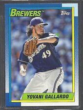 2013 Topps Archives Baseball - #154 - Yovani Gallardo - Milwaukee Brewers