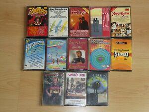 Kleine Sammlung mit 13 Musikkassetten
