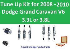 Spark Plugs, PCV Oil Air Filter Fit 2008 2009 2010 Dodge Grand Caravan 3.3L 3.8L