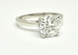 TACORI 18K WHITE GOLD ROUND DIAMOND ENGAGEMENT RING MOUNTING