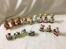 Vintage Homco Christmas Figurine Ornament Lot Of 16
