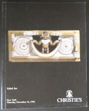 Auction Catalogue Christie's NY Important Tribal Art November 16, 1995 African