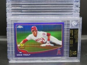 2013 Topps Chrome Mike Trout Purple Refractor #1 BGS 10 BLACK LABEL Angels M53