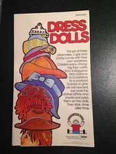 """RARE-VINTAGE-1984 DISCOVERY TOYS-""""UNISET"""", DRESS DOLLS UNUSED!  MADE IN DENMARK"""