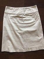 Banana Republic Womens Khaki 100% Skirt Size 2p Petite Stretch