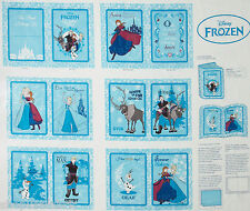 DISNEY FROZEN SOFT BOOK COTTON FABRIC PANEL ELSA ANNA SVEN OLAF w/Instructions