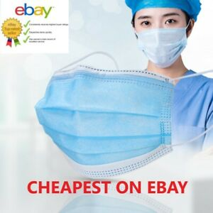 3 PLY Face Mask Surgical Disposable Blue Breathable Face Protection Masks