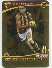 2012 AFL TEAMCOACH GOLD HAWTHORN Shaun Burgoyne 150 PARALLEL CARD