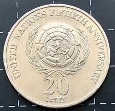 1995 AUSTRALIAN 20 CENT COIN - (UN)UNITED NATIONS FIFTIETH 50th ANNIVERSARY