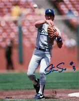 "Steve Sax Signed 8X10 Photo ""#8"" Autograph LA Dodgers Auto Ball in Air w/COA"