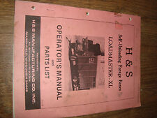 H&S Self Unloading Forage Boxes Loadmaster XL Operators Manual And Parts List 78