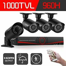 Security Camera System 1080P Wireless DVR Kit HD IR Home WIFI CCTV Night Outdoor