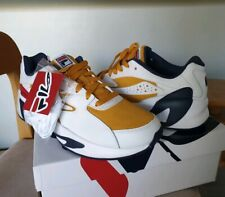 Real leather FILA Italy 90s Mindblower sneaker 10 white red blue yellow suede
