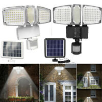 188 LED 10 Meters Solar Flood Light  Wall Lamp PIR Motion Sensor Waterproof Yard