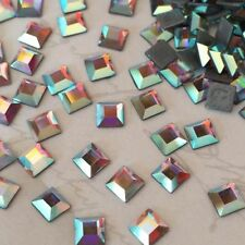 Square Faceted Jewellery Making Craft Beads