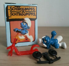 SUPER SMURF SCHTROUMPF TROTTINETTE SCOOTER 40230 Schleich NEUF COMPLET
