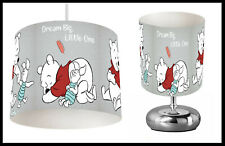 WINNIE THE POOH (504) - Bedroom - Ceiling Lampshade & Bedside Table Lamp