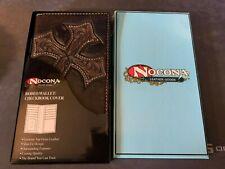 New Nocona Men's Diagonal Cross Embossed Rodeo Wallet Checkbook Cover