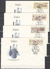 Russia, Scott cat. 5818-5821. Music Instruments issue on 4 First day covers.