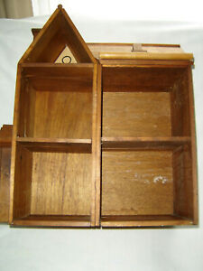 Primitive Doll Wood House Wooden Dollhouse Large Hand Made