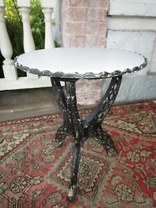 Vintage Retro Metal Stand or Small Table water tank base old glass