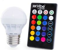 LED, RGB Vibe E-ssential Color Changing Light Bulb with Remote