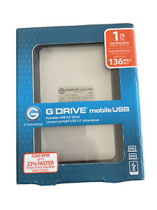 G-Technology G-Drive 1TB, External, 7200RPM (0G02874) Hard Drive